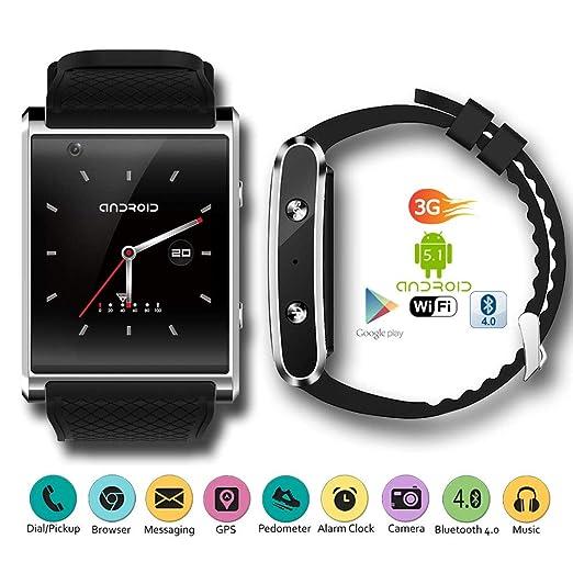 Indigi® 2017 Android 5.1 3 G Unlocked Smartwatch & teléfono WiFi + GPS (Mapas) + corazón tasa + Google Play Store + 32 GB Bundle: Amazon.es: Electrónica