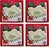 Holiday Napkin Holder with Red Napkins [Set of 4]