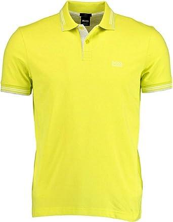 BOSS HUGO Polo slim fit de algodón elástico y detalles amarillo ...