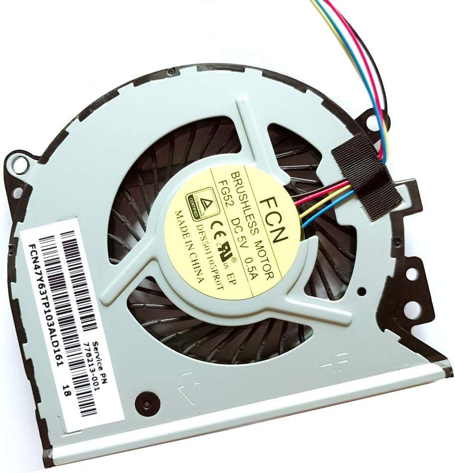 Compatible Laptop CPU Cooling Fan Cooler for hp Pavilion ENVY X360 Service PN 779598-001 KSB0705HBA07 776213-001 15-U010DX 776215-001 13-a012cl 15-u050ca 15-u100nr 15-u363cl 15-u410nr 13-a012dx series
