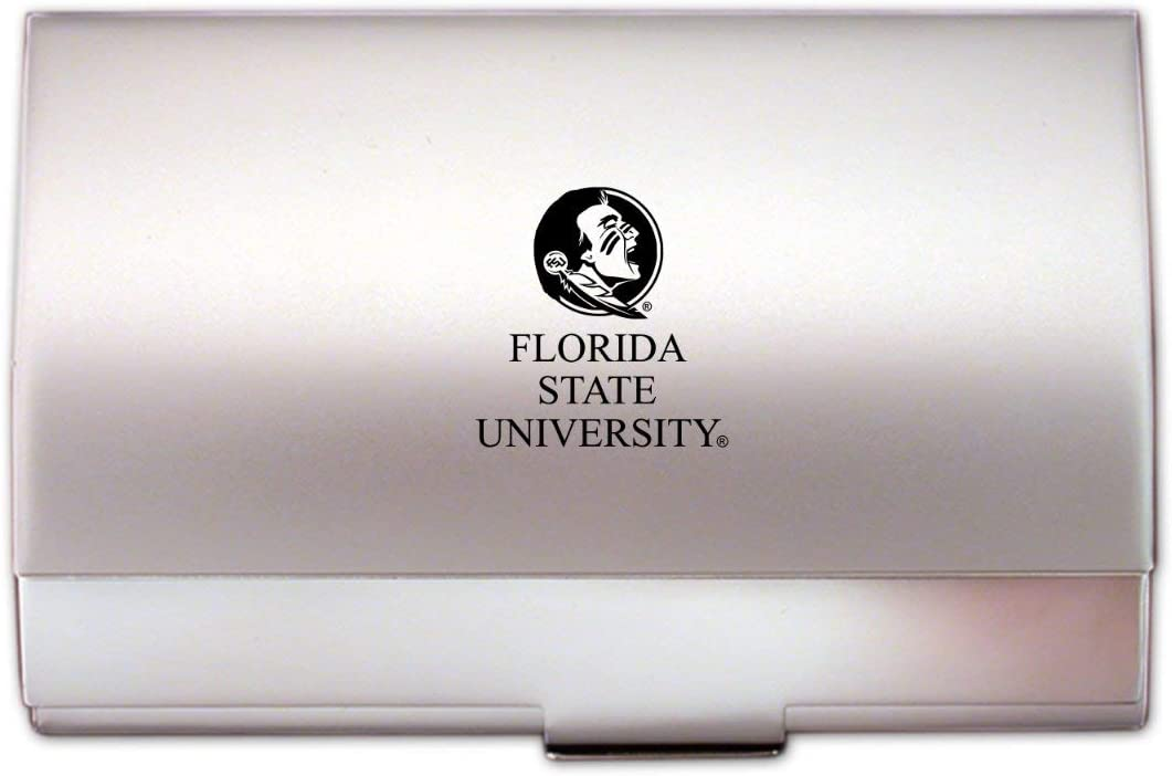 LXG, Inc. Florida State University - Two-Tone Business Card Holder - Silver