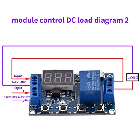 Peachy Dc 6 30V Digital Led Relay Board Cycle Timing Circuit Switch Timer Wiring Digital Resources Indicompassionincorg