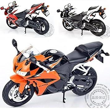 Amazon.com : 1:10 Children motor moto cycle CBR 600RR Diecast motorbike Alloy metal models servo toys mini motorcycles racing car gift : Baby