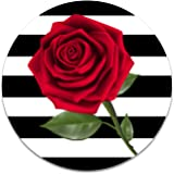 Stripes and Red Rose 2 Sticker Set for Pop Grip Stent for Phones and Tablets (