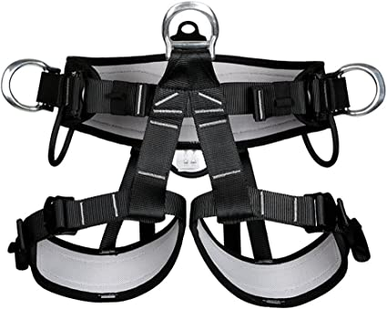 Outdoor Rock Safety Climbing Rappelling Harness Seat Belt Fall Protection Gear