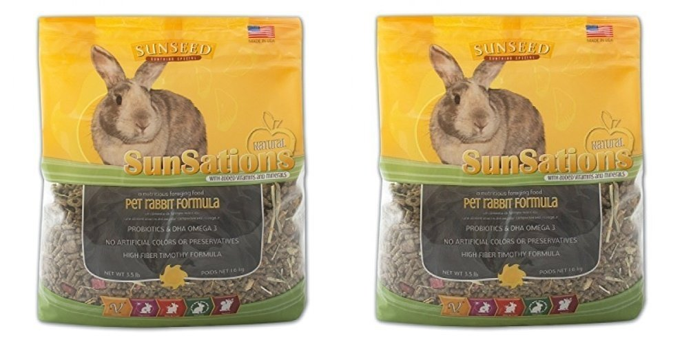 Sun Seed's Sunsations Natural Rabbit Formula 7-Pounds (2 Packages with 3.5lb Each) by Sun Seed