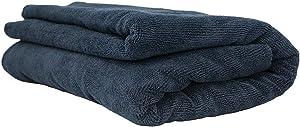 "Chemical Guys MIC_808 Edgeless Microfiber Towel (Black 51"" x 30"")"