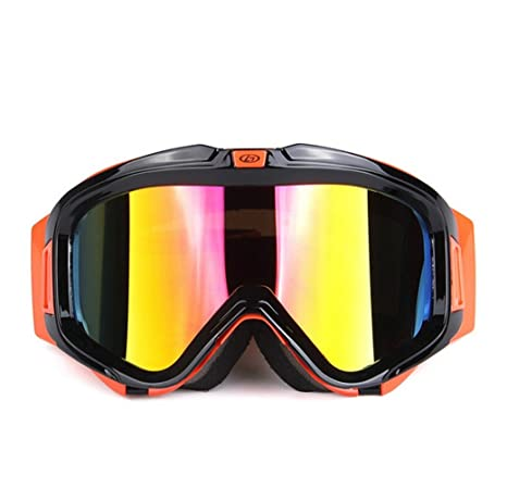 549ce160249 Wonzone Windproof Dustproof Snowboard Ski Goggles Motorcycle Cross Country  Sunglasses Adjustable UV Protective Outdoor Glasses Anti