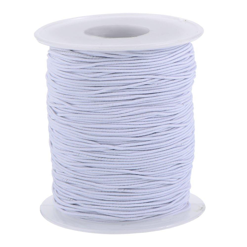 10 metres 1.5mm Round Hat Elastic White