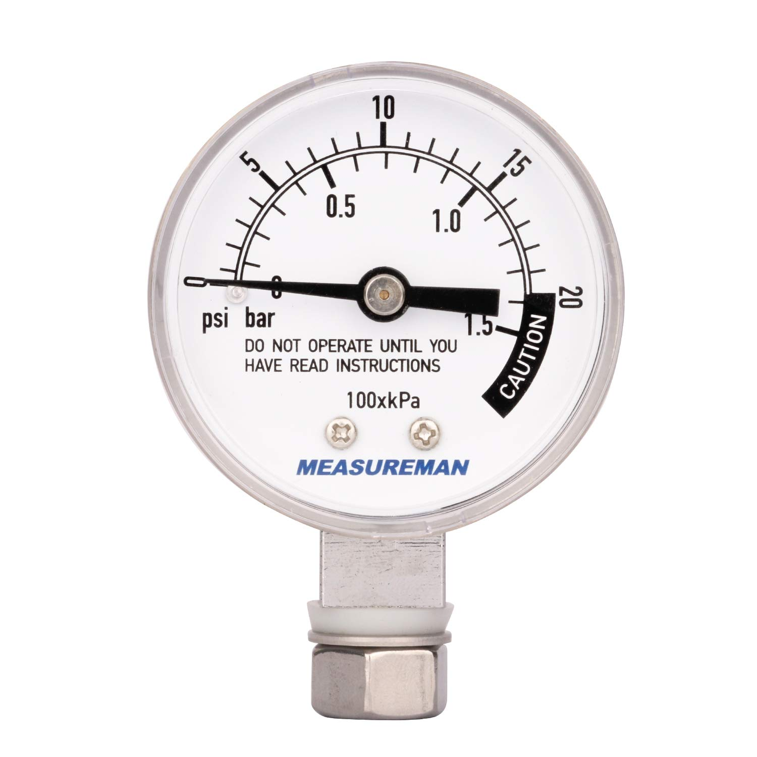 Measureman Stainless Steel Pressure Cooker Gauge, Pressure Canner Gauge, Steam Pressure Gauge, 2