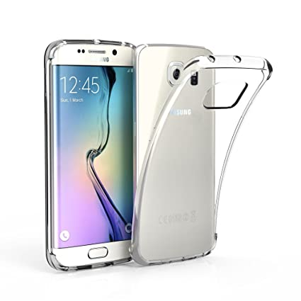 EasyAcc Case for Samsung Galaxy S6 Edge, Soft Premium TPU Case Clear Ultra Slim Thin Transparent Anti Slip Case Back Protector Cover Compatible with ...