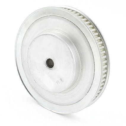 sourcingmap sustitución de la polea de distribución Tono Plata 10mm 11mm Correa 70 dientes XL 10mm