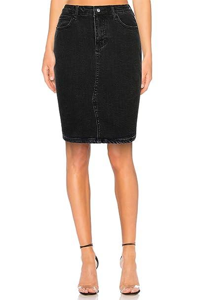 5e3f1fd221 High Waisted Jeans Skirts for Women Midi Knee Length Stretch Denim Pencil  Skirt Aline (24