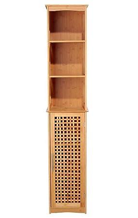 Pegane Colonne De Salle De Bain Bambou Naturel Dim L 34