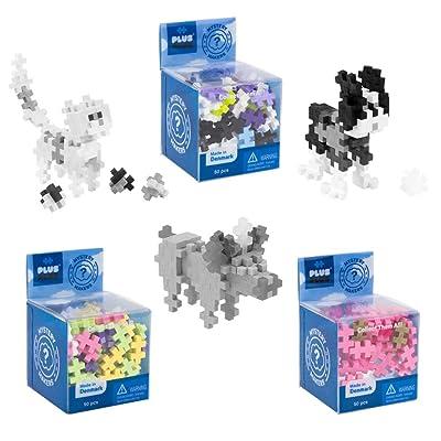 PLUS PLUS – Set of 3 Mystery Makers – Pets, Bundle 2 – Construction Building STEM | STEAM Toy, Interlocking Mini Puzzle Blocks for Kids: Toys & Games