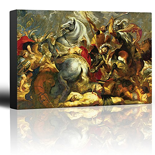 wall26 - Oil Painting of Victory and Death of The Consul Decius Mus at The Battle by Peter Paul Rubens - Baroque Style-Catholic - Canvas Art Home Decor - 24x36 inches ()