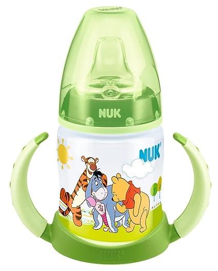 NUK - Biberón de aprendizaje, diseño de Winnie the Pooh, color verde