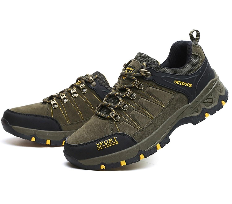 HangFan - Zapatillas de escalada de Ante para hombre, color verde, talla 39 1/2 EU