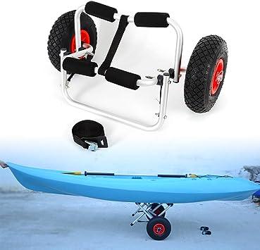 portador de canoas capacidad de carga de 150 libras TFCFL Carrito de kayak marco de aluminio carro de aluminio resistente