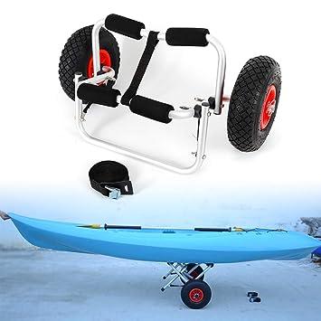TFCFL Carrito de Kayak Plegable, 2 Ruedas Rueda de Kayak de Kayak Transportador de Carro