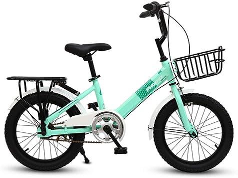 XMIMI Bicicleta Plegable para niños Niña Escolares Cochecito ...