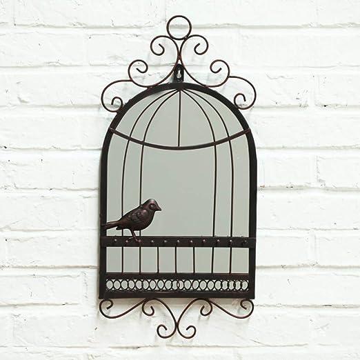 zenggp Jaula De Pájaros Espejo De Pared Jaula De Pájaros Precioso ...