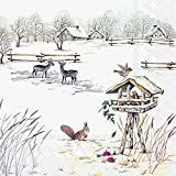 Ideal Home Range Almuerzo Servilletas, Snowy Garden, 1