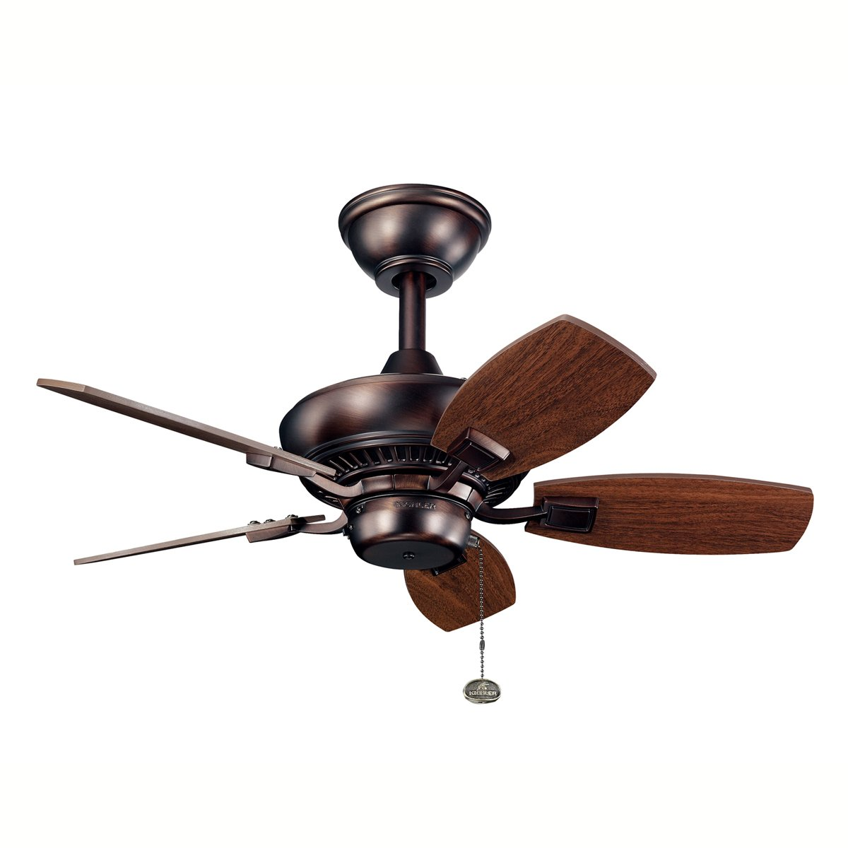 Kichler Lighting 300103OBB Canfield 30 Inch Ceiling Fan With Walnut Blade Oil Brushed Bronze