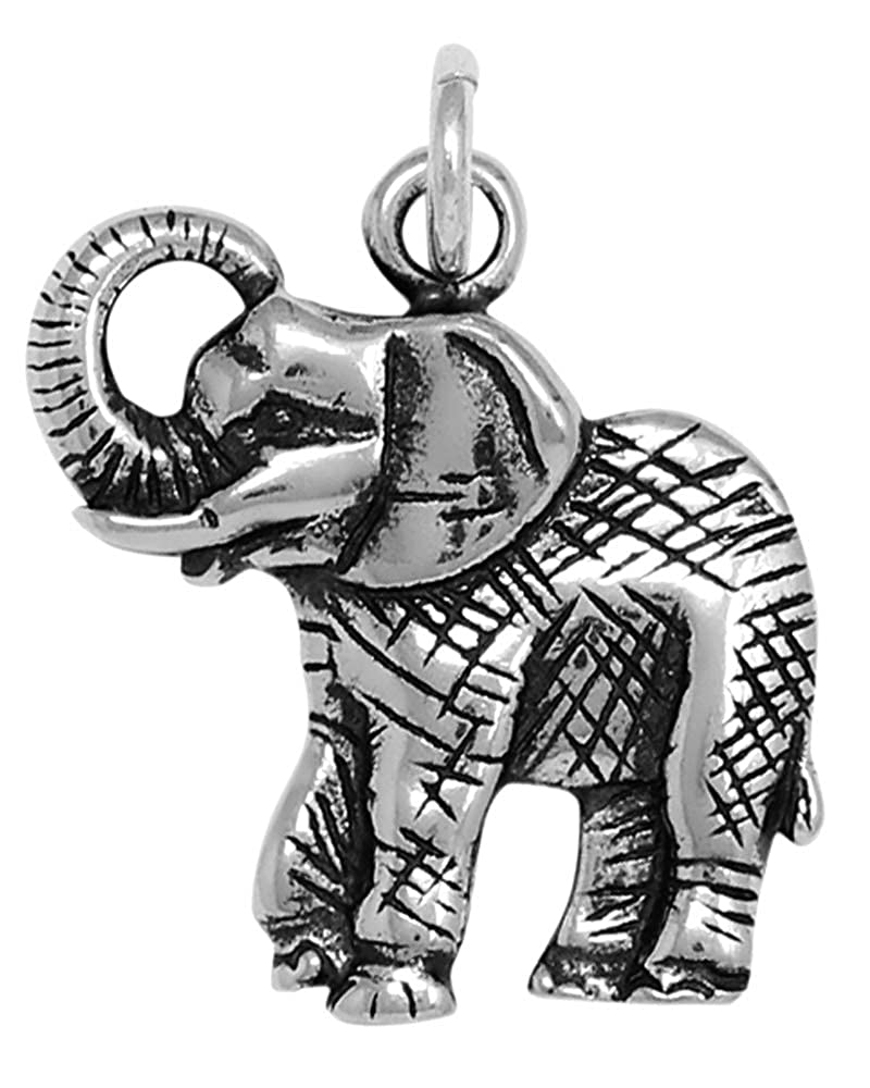 16, 18 or 20 Chain Raposa Elegance Sterling Silver Elephant Charm Necklace