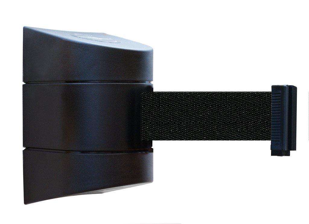 Tensabarrier 897-24-R-33-NO-B9X-C Removable Wall Mount, Black Caps, No Custom Black Webbing Standard Belt End, 24'