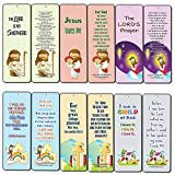 Christian Bookmarks Cards for Kids (60-Pack) - Scripture Bible Verses - Psalm 23 - Great Stocking Stuffers for Easter Baptism Thanksgiving Christmas Sunday School - Prayer Cards - War Room Decor