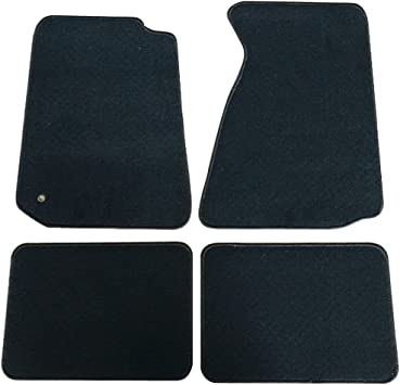 Amazon Com Floor Mats Compatible With 1994 1998 Ford Mustang Nylon Black Front Rear Carpet By Ikon Motorsports 1995 1996 1997 Automotive