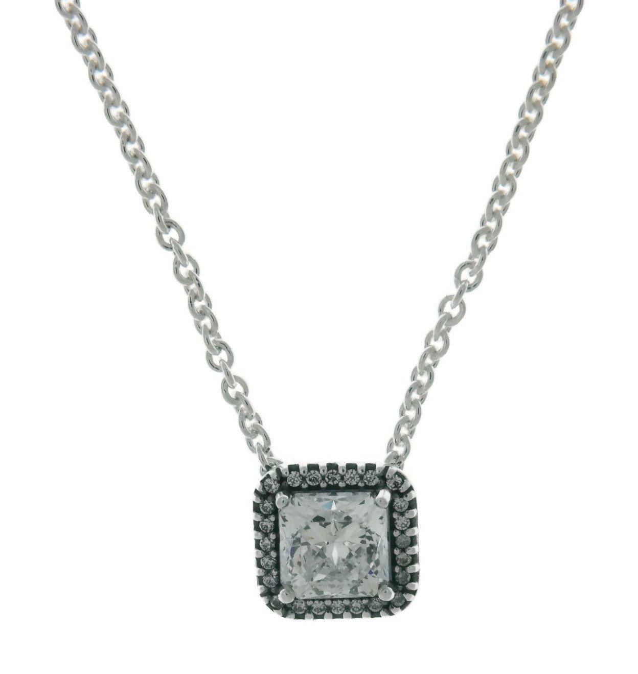 Pandora Timeless Elegance Necklace, Clear CZ 396241CZ-45 Centimeters 17.7 Inches