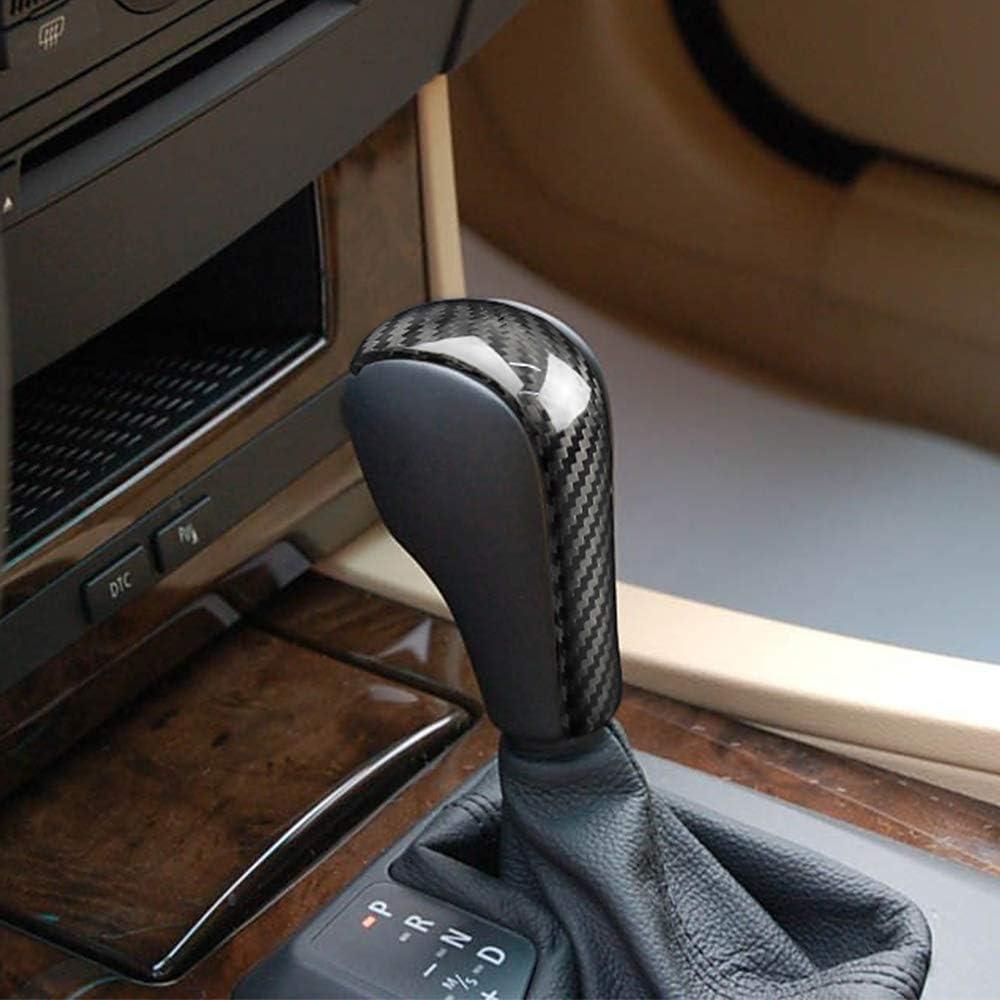 Black AIRSPEED Carbon Fiber Gear Shift Knob Cover Trim for BMW E90 E91 E60 E61 E63 E64 E85 E86 E83 E53