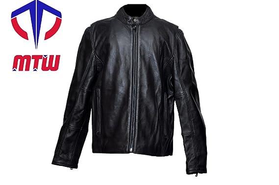 Amazon.com: MTW - Chaqueta de piel de cordero para hombre ...