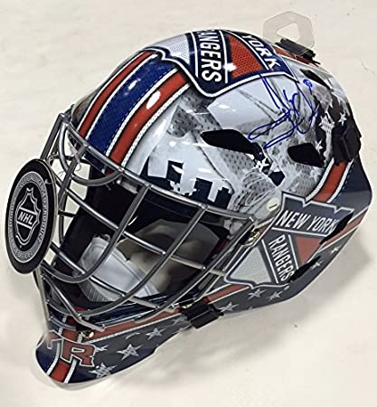 Amazon Com Henrik Lundqvist Signed Ny Rangers Full Size Replica