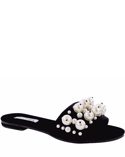 611ad8d0ce25 Cape Robbin- Women s Pearl Slides - Black  Amazon.co.uk  Shoes   Bags