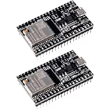 MELIFE 2 Pack ESP32-DevKitC core Board ESP32 Development Board ESP32-WROOM-32U for Arduino IDE