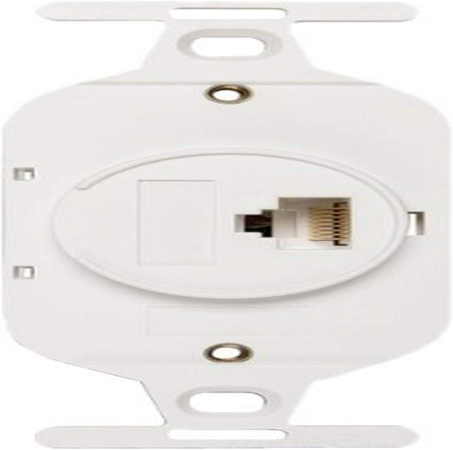 White Allen Tel Products AT105AF-15 USOC Wiring 1 Port 8 Conductor 8 Position Flush Mount IDC Outlet Jack