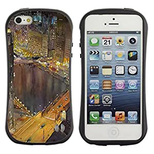 Suave TPU GEL Carcasa Funda Silicona Blando Estuche Caso de protección (para) Apple Iphone 5 / 5S / CECELL Phone case / / Hong Kong Night Lights Buildings River /