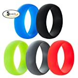 Amazon Price History for:5 Pack, 8mm Medical Grade Silicone Rings Wedding Band