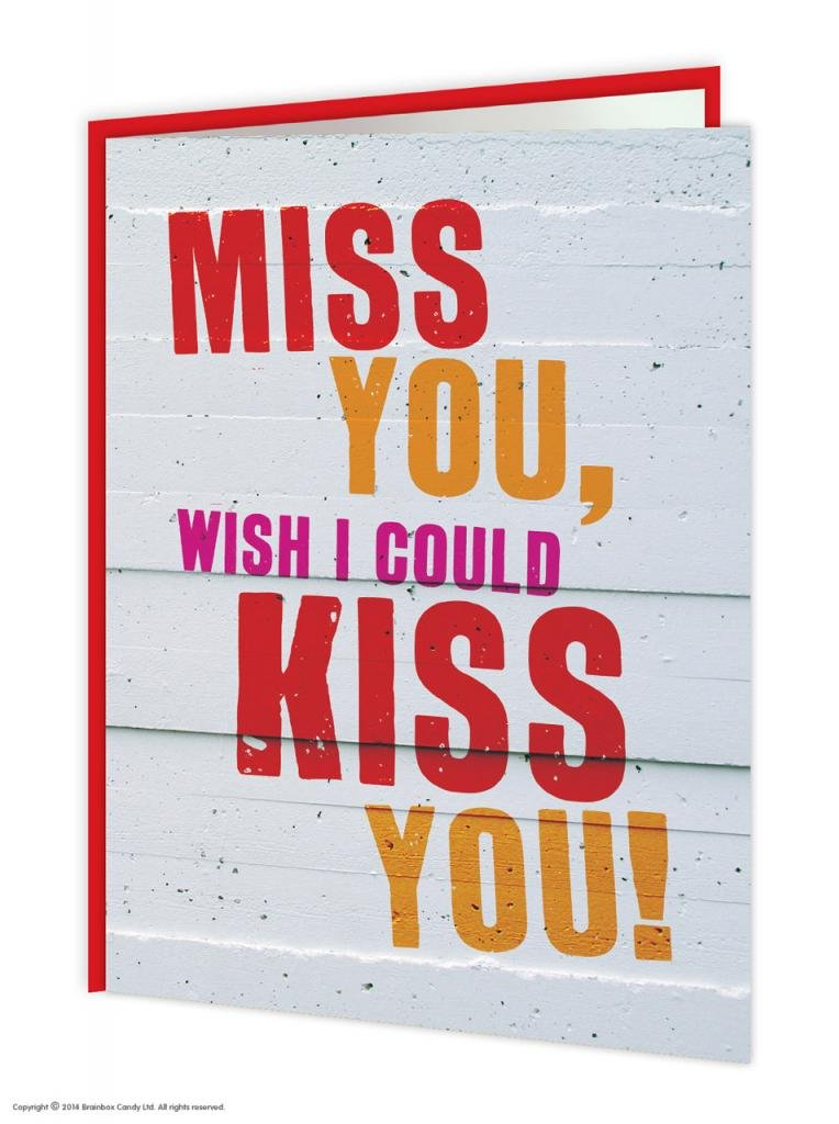 Funny humorous miss you wish i could kiss you missing you card funny humorous miss you wish i could kiss you missing you card amazon office products m4hsunfo