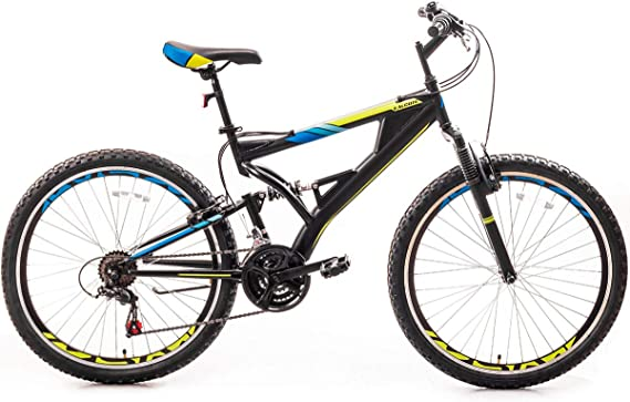 Yuxin 26 Inch Mountain Bike with Full Suspension 21-Speed Aluminum Frame Bicycle