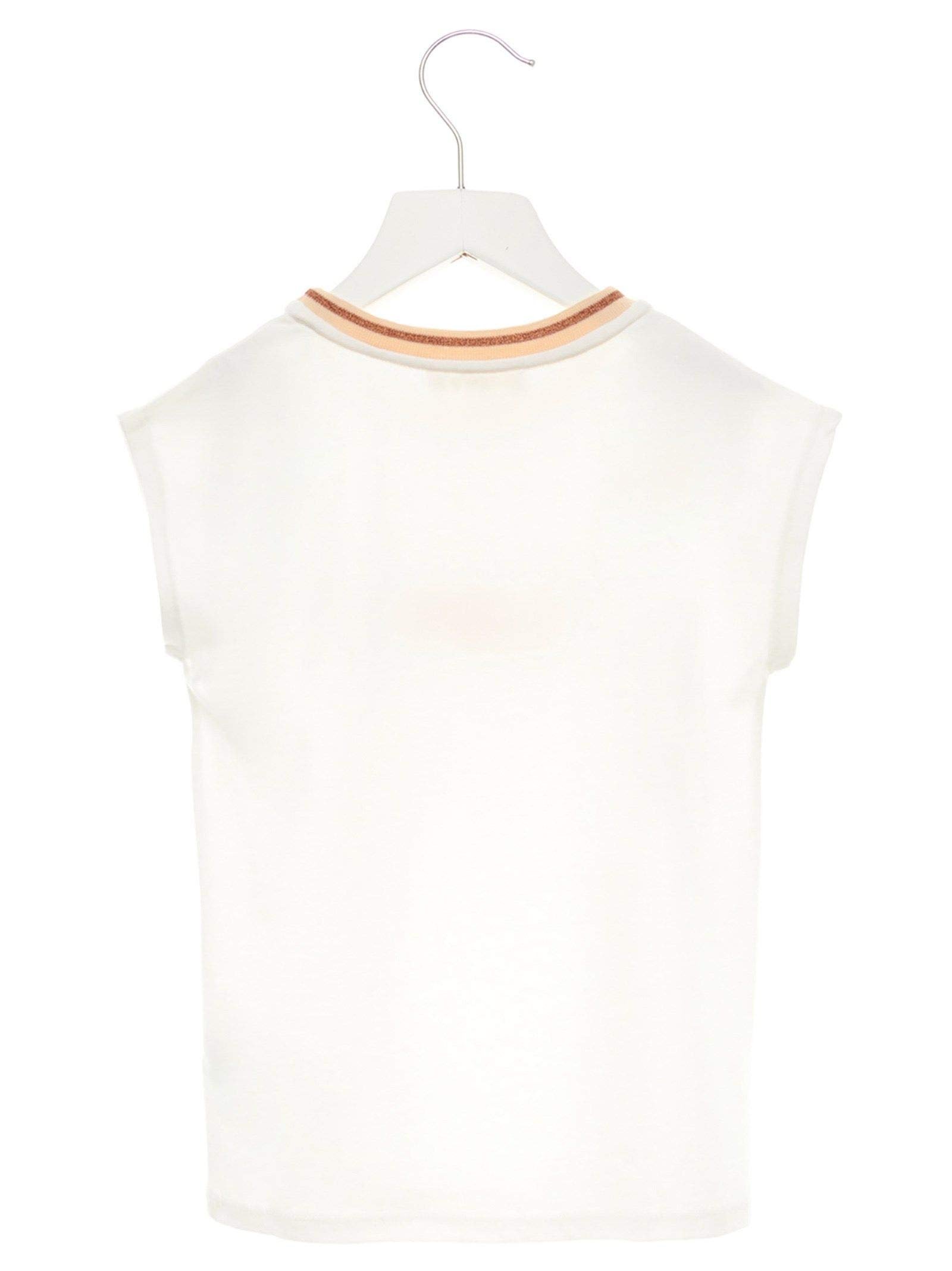 Chloé Girls C15a61117 White Cotton T-Shirt by Chloé (Image #2)