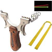 BESTZY Hogesnelheidskatapult-jachtkatapult met elastische banden, krachtige vaste en nauwkeurige schieten…