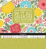 Bold Blossoms - 2016 Magnetic 17 Month Calendar 12 x 13in