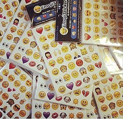 Emoticon Large Vinyl Emoji Stickers Pack 912 Die Cut Instagram iPhone Twitter (Blackberry For Kindle Ap)