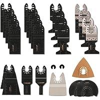 28 Stks oscillerende zaagbladen Set Universele Hout en Metalen Multi Tool Blades Quick Release Multitool Accessoires…