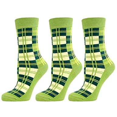 d88f6df263c Mens Formal Cotton Rich Ankle Socks -Tartan Checked - Lime Green (3 Pack)   Amazon.co.uk  Clothing