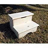 "Storage Box Step Stool Unfinshed 12"" Tall"